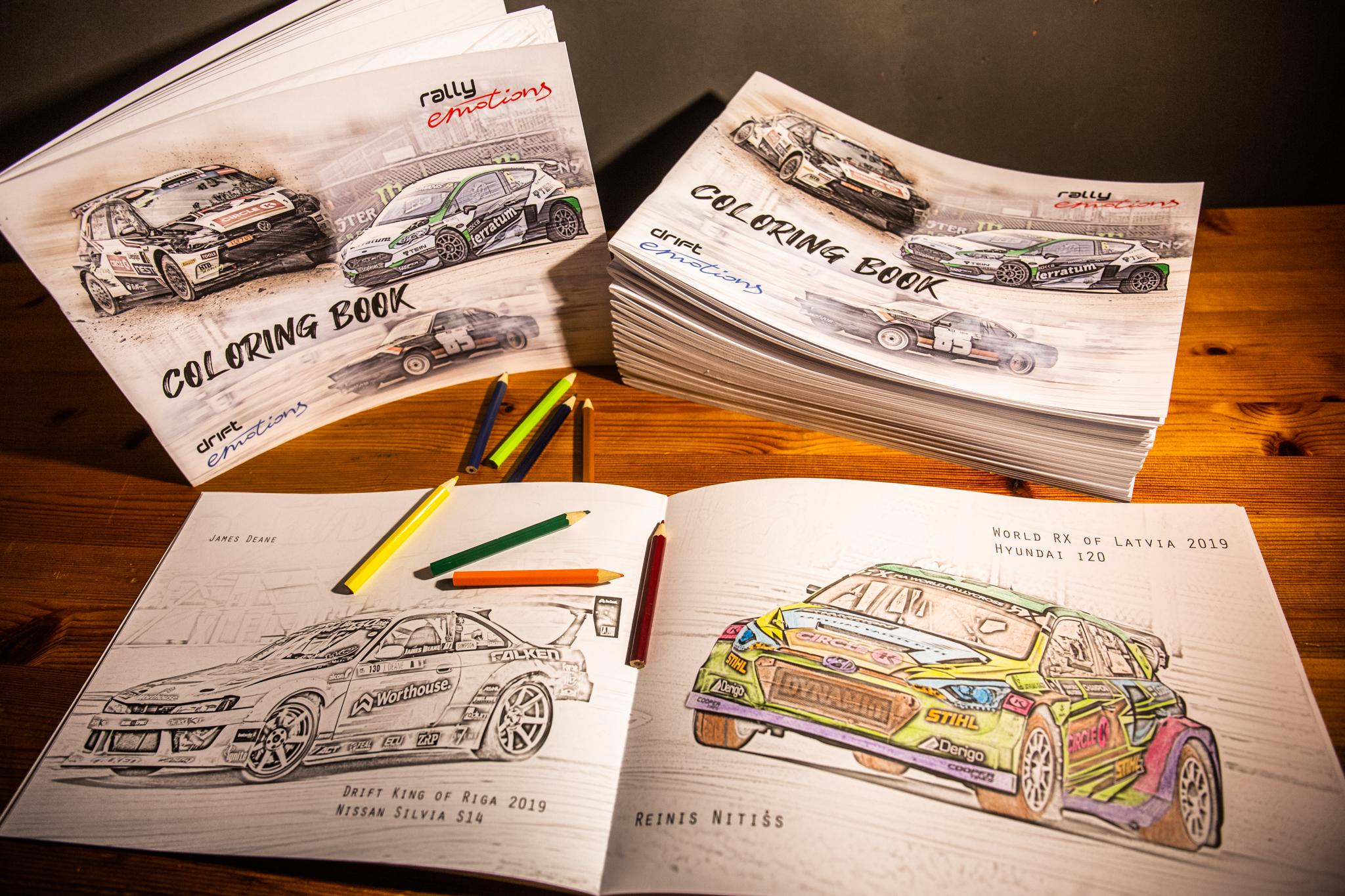Izdota jau trešā autosporta krāsojamā grāmatiņa gan lieliem, gan maziem autosporta līdzjutējiem.